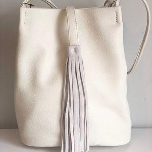Street Level Ivory Tassel Bag